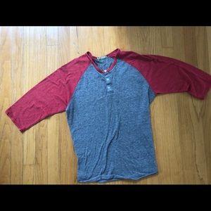 Alternative Apparel Red/Gray Shirt